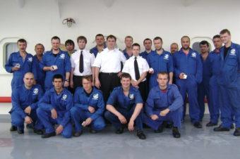 Crew of CSAV Rio Nevado after receiving safety awards