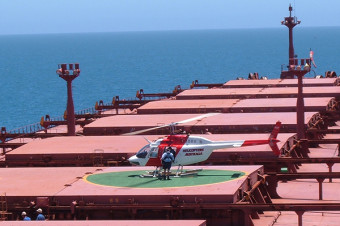Bulk carrier Cape Eagle with helipad