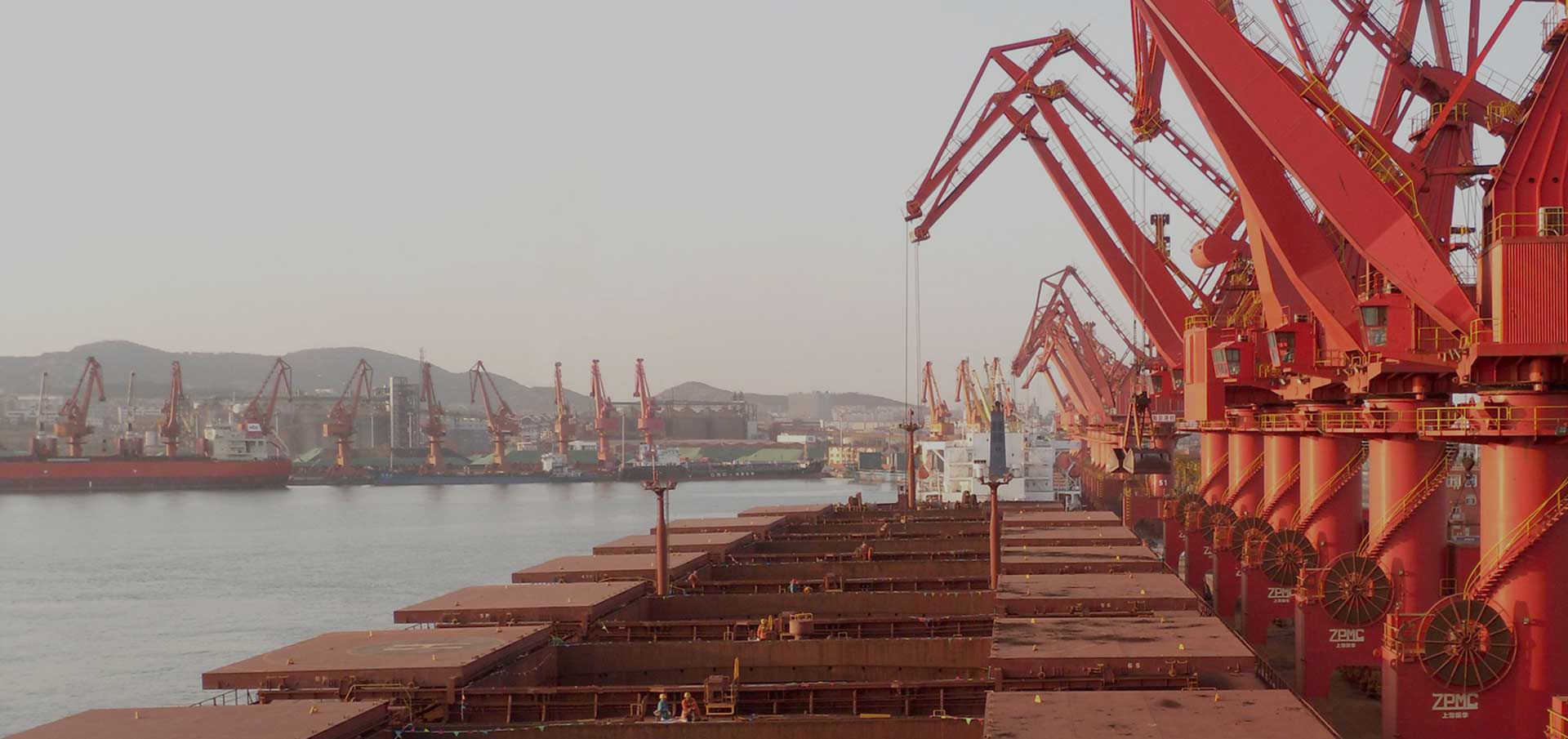 Capesize ships at Lanshan Port