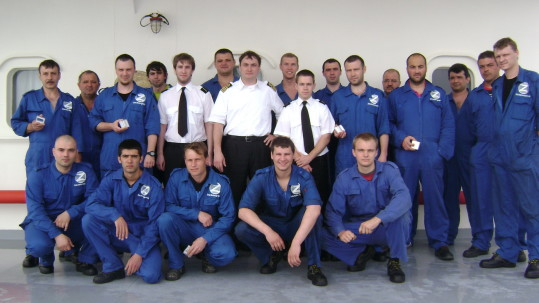 Crew of the vehicle carrier Rio Nevado